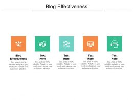 Blog Effectiveness Ppt Powerpoint Presentation Gallery Outline Cpb