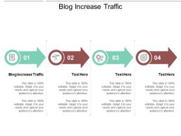 Blog Increase Traffic Ppt Powerpoint Presentation File Graphics Template Cpb