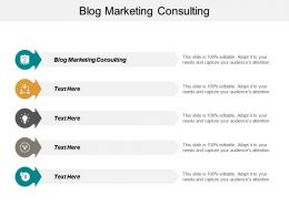 Blog Marketing Consulting Ppt Powerpoint Presentation Model Layout Ideas Cpb