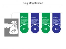 Blog Monetization Ppt Powerpoint Presentation Styles Templates Cpb