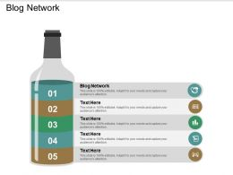 Blog Network Ppt Powerpoint Presentation File Graphics Tutorials Cpb