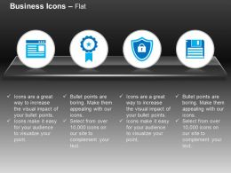 Blog Protection Shield Data Floppy Ribbon Ppt Icons Graphics