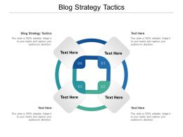 Blog Strategy Tactics Ppt Powerpoint Presentation Pictures Example Topics Cpb
