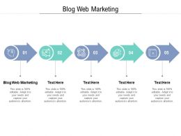 Blog Web Marketing Ppt Powerpoint Presentation Pictures Designs Cpb