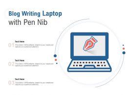 Blog Writing Laptop With Pen Nib