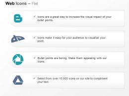 Blogger Deviantart Picasa Google Drive Ppt Icons Graphics