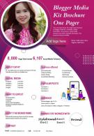 Blogger Media Kit Brochure One Pager Presentation Report Infographic PPT PDF Document