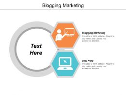 Blogging Marketing Ppt Powerpoint Presentation Gallery Ideas Cpb