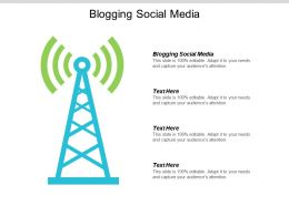 Blogging Social Media Ppt Powerpoint Presentation Pictures Layout Cpb