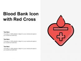 Blood Bank Icon With Red Cross