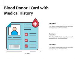 Blood Donor I Card With Medical History