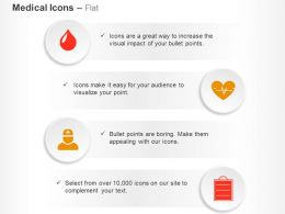 Blood Drop Cardiogram Hospital Staff Report Ppt Icons Graphics