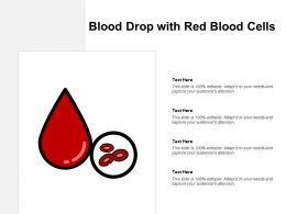 Blood Drop With Red Blood Cells
