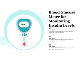 Blood Glucose Meter For Monitoring Insulin Levels