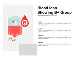 Blood Icon Showing B Positive Group