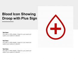 Blood Icon Showing Droop With Plus Sign