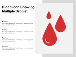Blood Icon Showing Multiple Droplet