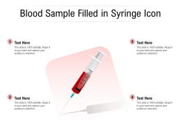 Blood Sample Filled In Syringe Icon