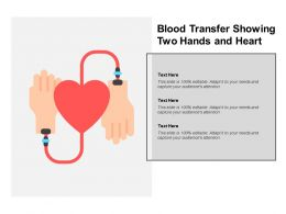Blood Transfer Showing Two Hands And Heart