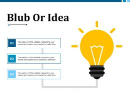 Blub Or Idea Example Presentation About Yourself Ppt Files