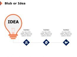Blub Or Idea Technology Management K274 Ppt Powerpoint Presentation Summary