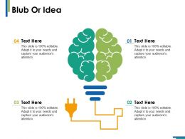 Blub Or Idea Technology Ppt Infographics Example Introduction