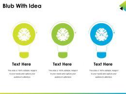 Blub With Idea Ppt Design