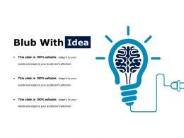Blub With Powerpoint Slide Background Designs