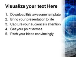 Blue Abstract Beauty PowerPoint Template 1010