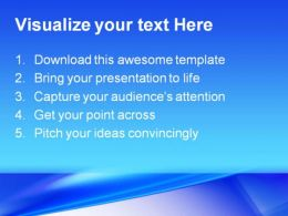 Blue Abstract PowerPoint Template 0910  Presentation Themes and Graphics Slide02