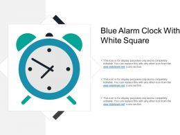 Blue Alarm Clock With White Square