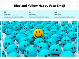 Blue And Yellow Happy Face Emoji