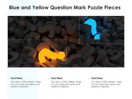 Blue And Yellow Question Mark Puzzle Pieces