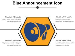 Blue Announcement Icon