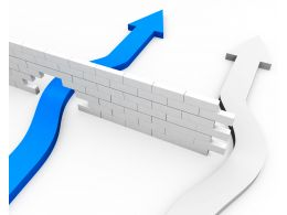 blue_arrow_breaking_a_way_through_wall_stock_photo_Slide01