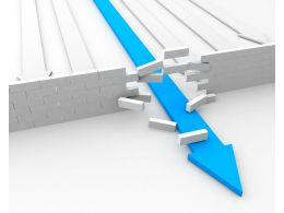 blue_arrow_passing_through_wall_breaking_hurdles_stock_photo_Slide01