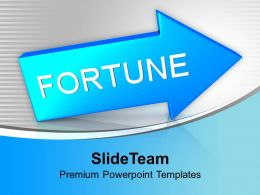 Blue Arrow With Fortune PowerPoint Templates PPT Themes And Graphics 0113