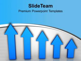 Blue Arrows Showing Upward Growth Trend Powerpoint Templates Ppt Themes And Graphics 0213