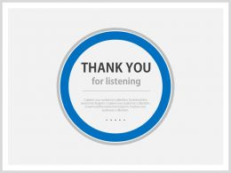 Blue Background Thank You Slide For Listening Powerpoint Slides