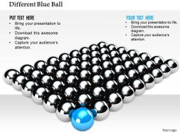 Blue Ball Ahead Of Silver Balls For Leadership