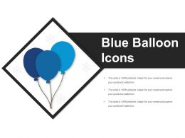 Blue Balloon Icons