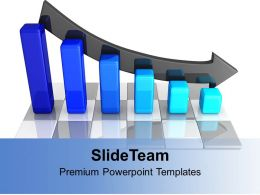 blue_bar_graph_decreasing_arrow_powerpoint_templates_ppt_themes_and_graphics_0313_Slide01