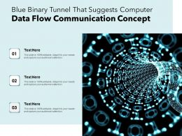 Blue Binary Tunnel That Suggests Computer Data Flow Communication Concept