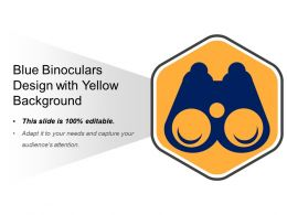 Blue Binoculars Design With Yellow Background