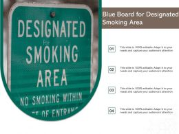 Blue Board For Designated Smoking Area