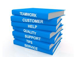 Blue Books With Multiple Skills Business Stock Photo