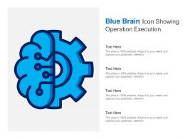 Blue Brain Icon Showing Operation Execution