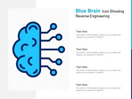 Blue Brain Icon Showing Reverse Engineering