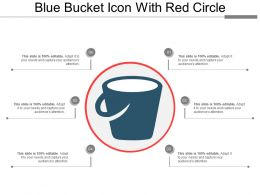 Blue Bucket Icon With Red Circle