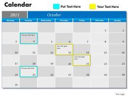 Blue Calendar 2011 PPT 10